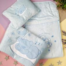 Комплект для новорождённых:Конверт, одеяло, подушка